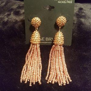Lane Bryant rose gold tassel earrings